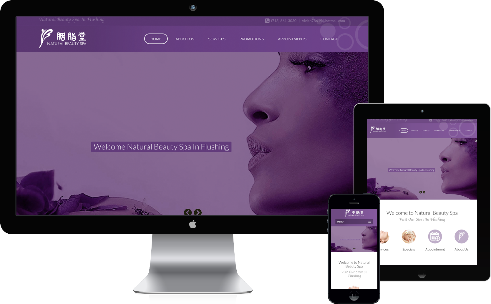 beauty web design New York - project1